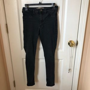 Hollister Super Skinny High Rise Black Jeans